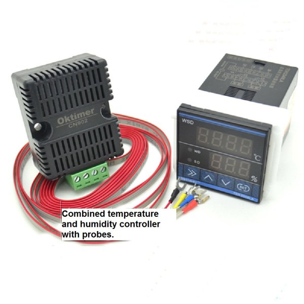 combined incubator temperature and humidity controller